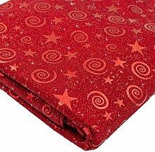matrasa Weihnachtliche Tischdecke Stars - 140 x