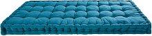 Matratze aus petrolblauer Baumwolle 90x190