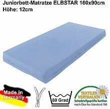 Matratze ELBSTAR Kindermatratze Juniormatratze für Juniorbetten 90x160cm Höhe: 12cm #14930