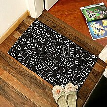 Matratze Fußmatte Moderner puristischer Eingangstür in der Tür, rutschfestes saugfähig Badezimmer Matten, 60cm×90cm