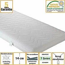 Matratze mit Komfortschaum abnehmbarer Bezug Breite 140 cm Liegefläche 140x200 Pharao24