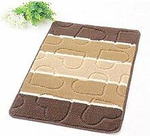 Matratze-Teppich-rutschfeste Badezimmer-Matten-große Tür-Matten-Bad-Matten-Grün ( farbe : Braun , größe : 40*60cm )
