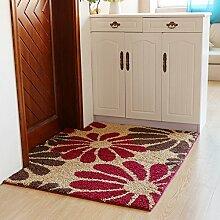 Matratze tür matt pad wohnzimmer eingang rauch schiebetüren nicht-slip water absorption-H 80x120cm(31x47inch)