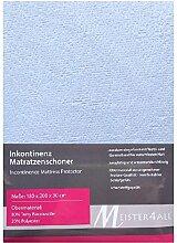Matratzenauflage Matratzenbezug Matratzenschoner Inkontinenz 60-70x140 80x200 90x200 140x200 160x200 180x200 (180 x 200 + 30 cm.)