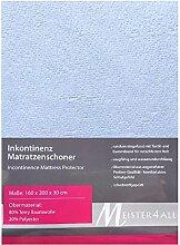 Matratzenauflage Matratzenbezug Matratzenschoner Inkontinenz 60-70x140 80x200 90x200 140x200 160x200 180x200 (160 x 200 + 30 cm.)
