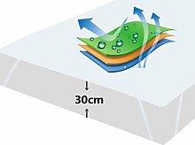 Matratzenschoner Matratzenauflage Wasserdicht Atmungsaktive Baumwolle Wasserundurchlässige Matratzenschutz Kopfkissenschoner Matratzenmolton in Verschiedenen Größen 180 × 200 cm, Original OEKO-TEX®