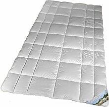 Matratzenschoner von Walburga Größe 140 x 200 cm - 100% Merino-Schurwolle - hochwertiges Unterbett für luxeriösen Schlaf - Oberseite Baumwolle Perkal - Unterseite Baumwolle Mako Triko