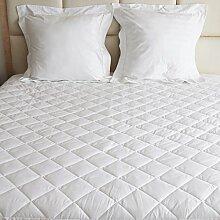 Matratzenschoner, wasserdicht, für Einzelbetten, Doppelbetten, extra große und kleine Doppelbetten, Etagenbetten, 122cm, weiß, Double Extra Deep