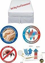 Matratzenschutz Wasserdicht Bettwanzen umgreifung, Anti-allergy, Anti Staub Milben, weiß, 90x190x22 cm