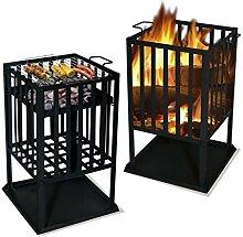 MATRO Feuerschale und Grill quadratisch