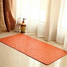 Mats Badezimmer-Toiletten-Badezimmer-Tür-rutschfester Pvc-Bad-Matten-Duscheraum-Badezimmer-Tür-Bad-Fuß-Auflage ( Farbe : Orange )