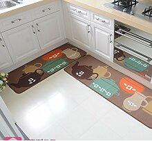 Mats/Fußmatte/Küche saugfähigen Öl Absorption Pads/Wasserdichte Badezimmer Matte/Der Balkon Schiebetür Kleiderschrank Bar Pad-B 40x60cm(16x24inch)