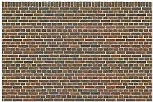 Matt Fototapete Backstein London Rotbraun 1,9 m x