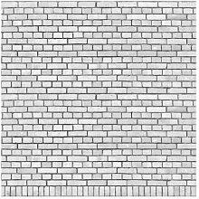 Matt Fototapete Backstein London Weiß 2,4 m x 240