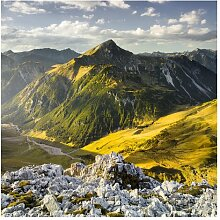 Matt Fototapete Berge und Tal der Lechtaler Alpen