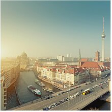 Matt Fototapete Berlin am Morgen 2,88 m x 288 cm