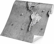 Matt Fototapete Beton Weltkarte 1,9 m x 288 cm