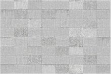 Matt Fototapete Beton Ziegeloptik Grau 2,55 m x