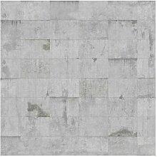 Matt Fototapete Beton Ziegeloptik Grau 2,88 m x