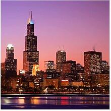 Matt Fototapete Chicago Skyline 2,4 m x 240 cm