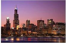 Matt Fototapete Chicago Skyline 2,55 m x 384 cm