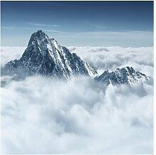 Matt Fototapete Die Alpen über den Wolken 2,4 m x