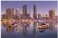 Matt Fototapete Dubai Skyline und Marina 3,2 m x
