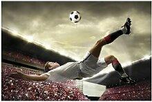 Matt Fototapete Fußball Action 1,9 m x 288 cm