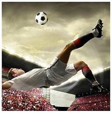 Matt Fototapete Fußball Action 1,92 m x 192 cm