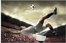 Matt Fototapete Fußball Action 2,25 m x 336 cm