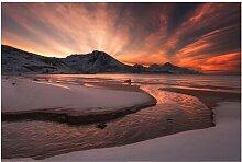 Matt Fototapete Goldener Sonnenuntergang 2,25 m x