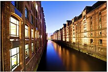 Matt Fototapete Hamburg Speicherstadt 1,9 m x 288