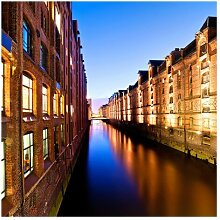 Matt Fototapete Hamburg Speicherstadt 2,4 m x 240