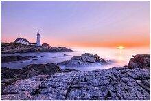Matt Fototapete Leuchtturm am Morgen 1,9 m x 288