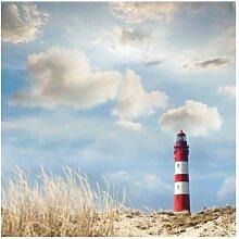 Matt Fototapete Leuchtturm in den Dünen 3,36 m x