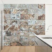 Matt Fototapete Naturmarmor Steinwand 3,36 m x 336