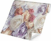 Matt Fototapete Pastell Paper Art Rosen 3,2 m x