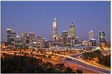 Matt Fototapete Perth Skyline 2,25 m x 336 cm East