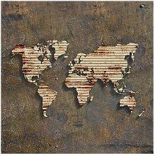 Matt Fototapete Rost Weltkarte 2,4 m x 240 cm East