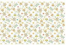 Matt Fototapete Schmetterling Illustrationen 1,9 m