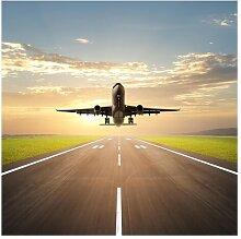 Matt Fototapete Startendes Flugzeug 2,4 m x 240 cm