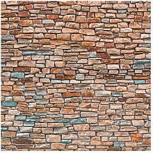 Matt Fototapete Steinoptik Rot Türkis 2,4 m x 240