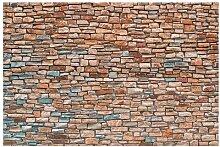Matt Fototapete Steinoptik Rot Türkis 2,55 m x
