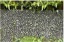 Matt Fototapete Steinwand mit Pflanzen 1,9 m x 288