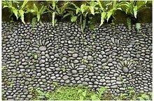 Matt Fototapete Steinwand mit Pflanzen 2,55 m x