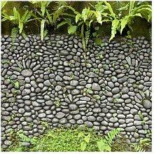 Matt Fototapete Steinwand mit Pflanzen 2,88 m x