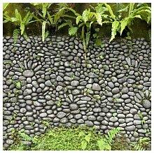 Matt Fototapete Steinwand mit Pflanzen 3,36 m x