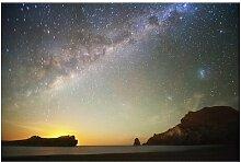 Matt Fototapete Sternenhimmel über dem Meer 1,9 m