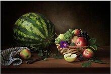 Matt Fototapete Stillleben mit Melone 2,25 m x 336