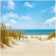 Matt Fototapete Strand an der Nordsee 1,92 m x 192